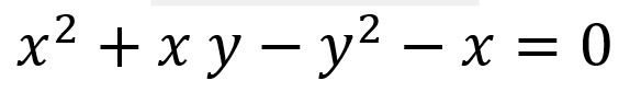 Complete second degree equation in x y (conical)